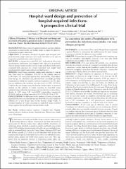 Hospital ward design and prevention of hospital-acquired infections