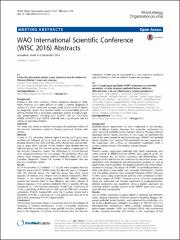WAO International Scientific Conference (WISC 2016) Abstracts