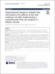 Organizational Changes In Diabetic Foot Care Practices For